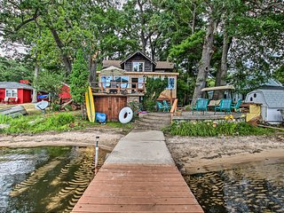 NEW! Sand Lake Home w/Deck + 50 Feet of Beachfront