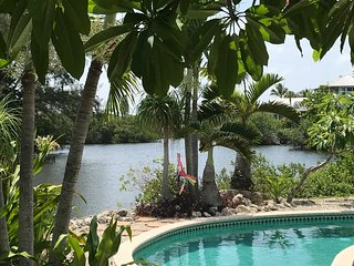 ANNA MARIA'S BEST LOCATION! PANORAMIC VIEW of Pool Dock & Bayou to Gulf