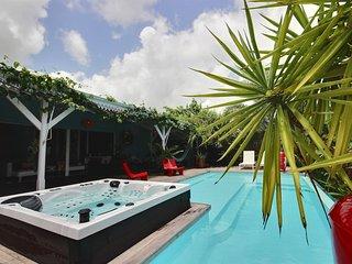 Villa Arty : 4 chambres, piscine + jacuzzi, vue mer et plage à pied