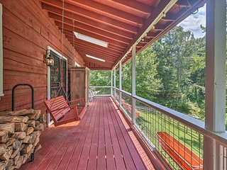 NEW! Asheville Area Farmhouse w/ Deck on 18 Acres!