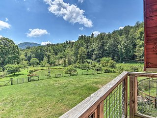 Asheville Area Farmhouse w/ Deck on 18 Acres!