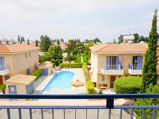 Iris Village (Paphos) - Modern Apartment w/ Private Balcony & 2 Pools in Estate