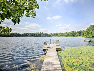 NEW! Lakefront Home w/ Kayaks, Peddle Boat & Dock!