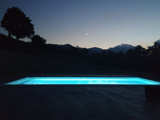 Modern villa with private pool, views of Gran Sasso, family friendly sleeps 9.