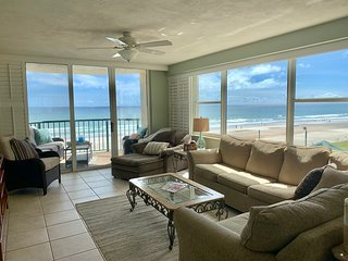 Enjoy holidays in condo with wall-to-wall views.  On pristine barrier island.