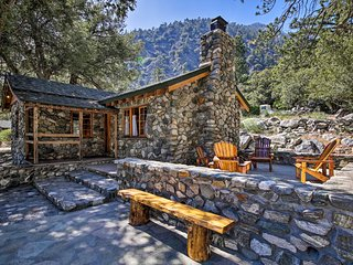 NEW! Historic Stone Cabin 1Mi to Mt Baldy Resort!