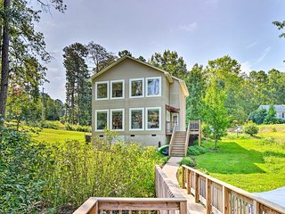 NEW! New London Home w/ Dock Nestled on Badin Lake