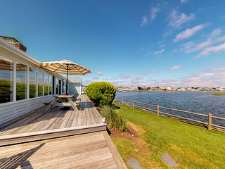 Stunning waterfront home w/ furnished deck, dock & majestic views!