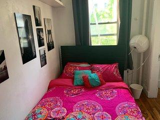 Queen Bed in Full Floor East Village Apartment