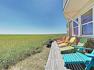 Immaculate Beachfront Retreat with Chef's Kitchen, Ocean Vistas & Firepit