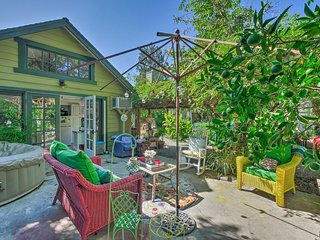 Downtown Orange Cottage w/ Garden & Hot Tub!