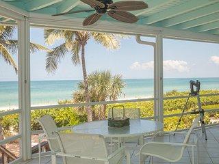 Direct Beachfront 3-Bed & 3-Bath on Bonita Beach | Large Decks for Sunset Views