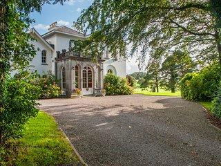 Front door view at the manor.