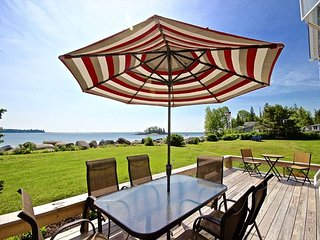Sitting on Crescent Beach, a traditional, comfortable summer house.