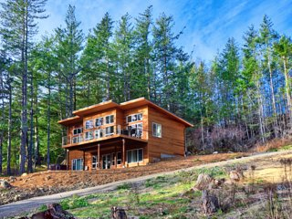 Orcas Island Getaway at Rosario Sea Views - New NW Modern with Salish Sea Views