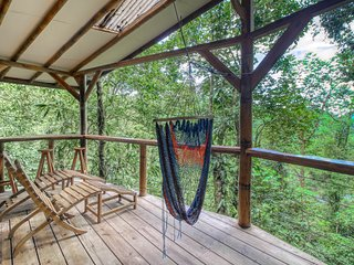 Stunning, two-pod treehouse getaway near waterfalls w/ a kitchen & canopy views
