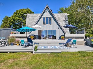 Waterfront Southampton A-Frame Home with Deck