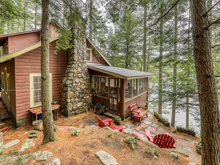 NEW LISTING! Dog-friendly, lakefront camp cabin w/ a dock & multiple decks