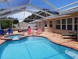 Vacation Home 2 Miles From The Beach with Saltwater Pool and Spa!