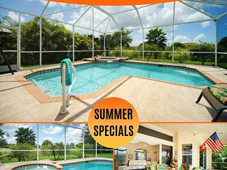 33% OFF! SWFL Rentals - Villa Rosa - Gulf Access Pool Home Sleeps 6