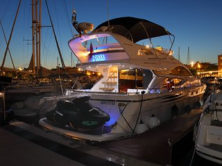 Luxury Yacht in Port Vell, Barcelona