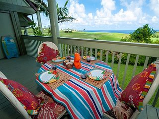 Puamana 16B-great ocean view, walk to Anini Beach,quiet complex