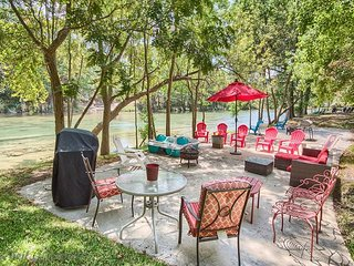Fairy-tale like Backyard with 65 feet of Guadalupe Riverfront!