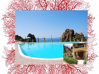 Sardinia holiday home Red Coral, 4 beds, pool, parking, wi.fi - IUN P7143