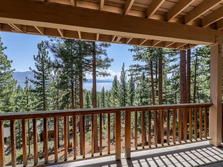 Classic, dog-friendly home w/ amazing lake view, large deck & fireplace!