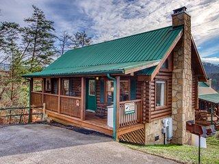 Dog-friendly cabin w/ private hot tub & shared seasonal pool - great location!