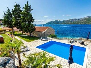 Beachfront Villa Gabriela with Pool