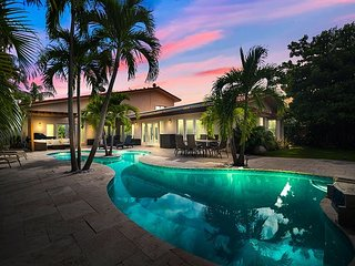 High-End Waterfront Home w/ Resort-Style Pool, Boat Dock & 3 Living Areas