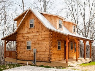 The 'Hampton'...An Amish-Built Log Cabin with a Private Ravine View ;)