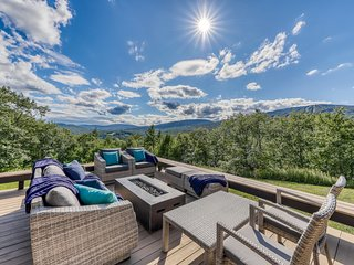 NEW LISTING! Stunning hillside home with amazing valley and resort views!