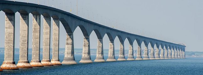 Travel from 122km fro Tiny House to the Confederation Bridge in New Brunswick for travel to/from PEI