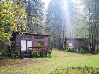 Sarakem 2 cabañas cerca del pqe huerquehue .