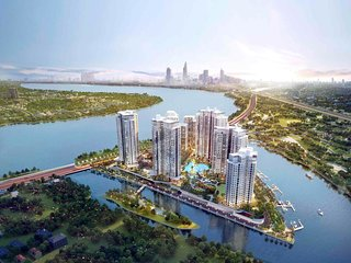 Entire 5* resort-style 3BRs condo, amazing panorama sunset and river view