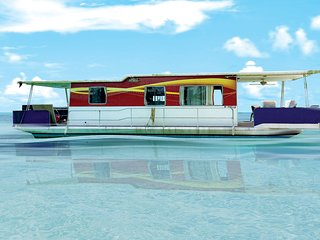 PIRATE'S TREASURE WATERFRONT HOUSEBOAT/TINY HOUSE/FLOATING HOME