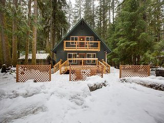 Mt. Baker Lodging  Cabin #49 – HOT TUB, FIREPLACE, PETS OK, WIFI, SLEEPS 10!