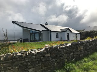 Seascape: holiday home near Louisburgh, Co Mayo. Stunning views of Clare Island