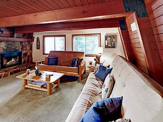 Whispering Forest Home w/ Private Deck & Big Fenced Yard - Near Skiing & Lake