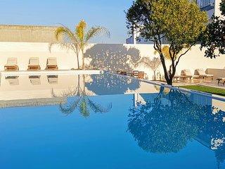 Casa Rene, Cacilhas, Almada - Studio met tuin en groot zwembad (4e verd)