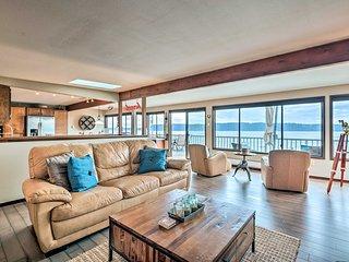 NEW! Beachfront Home w/Deck + Stunning Bay Views!