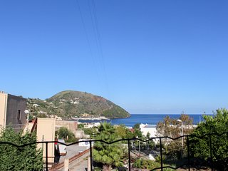 Lipari getaway with access to a roof deck & incredible valley/sea views!