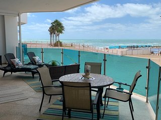 3BD/3Bath Beach Front Condo Quiet Location