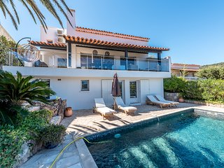 1340112 villa for 8 people, sea view, heated pool 8 x 4, airconditioning, BBQ