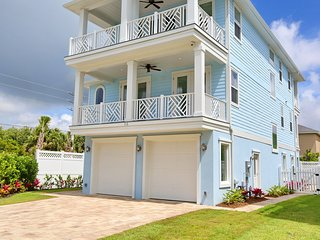 Sea Blue Paradise - Luxurious 3-Story Home Steps to the Beach with Heated Pool