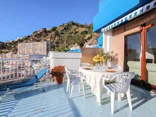Harborside apartment w/ sea view & large terrace - steps to beach, 1 dog OK!