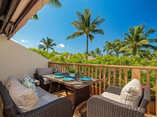 New Listing!  Maui Kamaole L-210, Private Garden View Near Grotto Style Pool