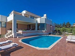 Anastasia Seaview 6BR Villa in Platanias, Chania